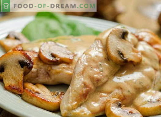 Chicken in sour cream - the best recipes. How to cook chicken in sour cream.