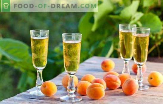Strong and sweet apricot drinks at home. Rules of fermentation and tincture of alcoholic beverages from apricots