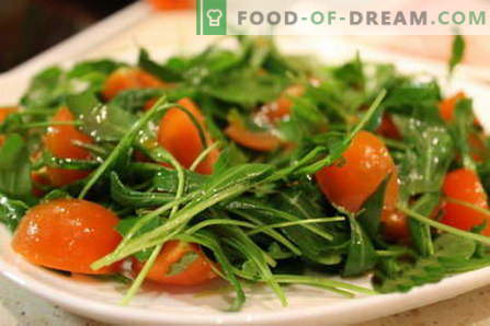 Rocket salad - the best recipes. How to properly and tasty to cook a salad with arugula.