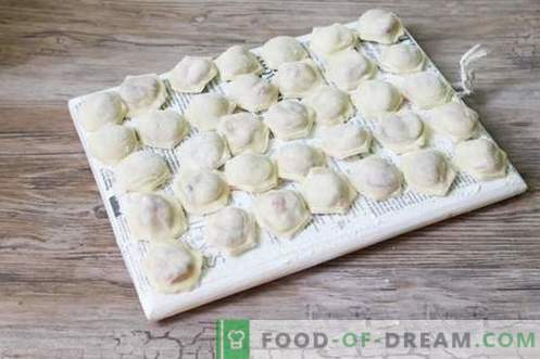 Sweet dumplings with cherries are unusual and appetizing!