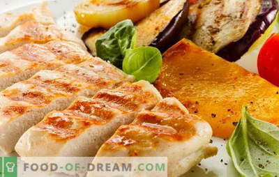 Grilled chicken fillet is elementary! Recipes for delicious chicken fillet on the grill in the oven, microwave, in a pan