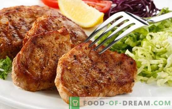Pork steak in a pan - learn how to fry meat deliciously! The best recipes for pork steak in a frying pan in the original marinades