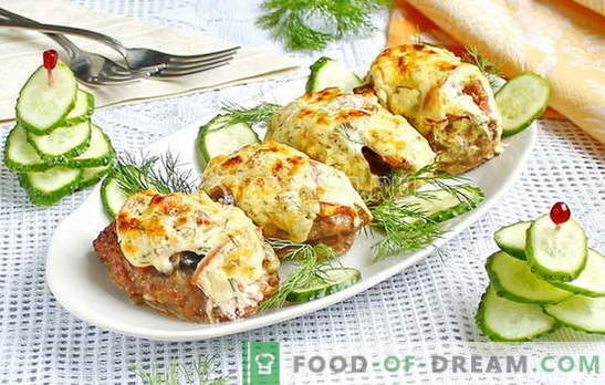 Meat in French with minced meat - a new version of the traditional dish. Six best meat recipes in French with minced meat