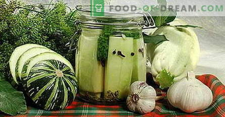 Zucchini for the winter - the best recipes. How to properly and tasty cooked canned zucchini.