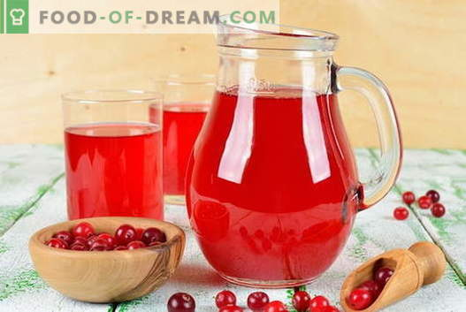 Cranberry mors - the best recipes. How to properly and tasty cook cranberry mors.