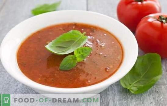 Tomato puree soup is a healthy dish for hot summers and cold winters. The best options for hot and cold tomato puree soup