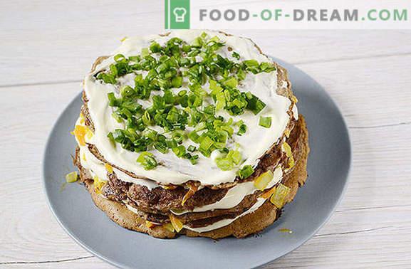 Gâteau au foie: une excellente collation, pratique pour pique-niquer! Gâteau au foie classique: photo-recette pas à pas