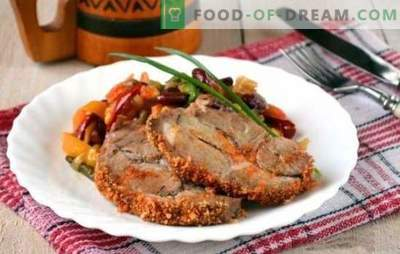 Baked pork piece in the oven - a lot of meat does not happen! Different recipes of fragrant and tasty baked pork piece in the oven