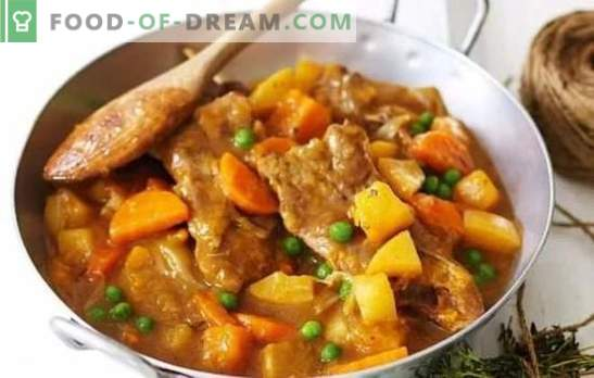 Khashlama with potatoes - a hearty oriental dish. Hashlama recipes with potatoes and beef, lamb, chicken and pork