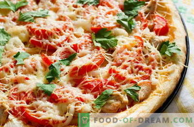 Chicken pizza - the best recipes. How to properly and tasty cook pizza with chicken.