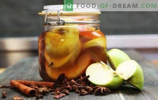 Pickled apples for the winter in cans without sterilization - an aromatic snack. Pickled apples for the winter: sweet, sour,