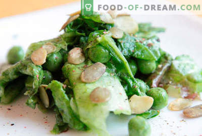 Salad with green peas - proven recipes. How to cook a salad with green peas.