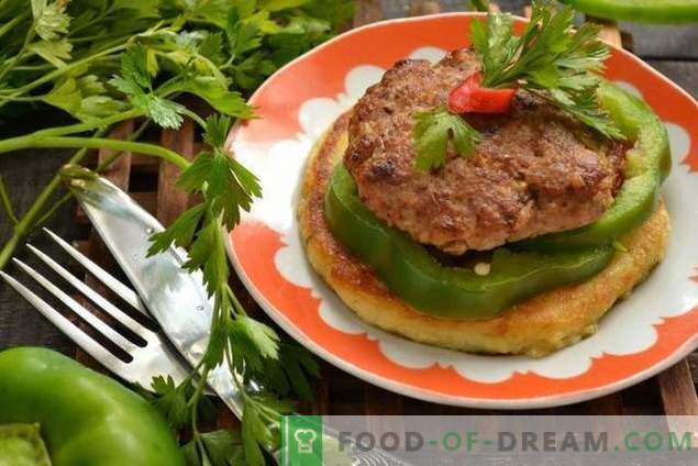 Cutlets on potato tortillas - to surprise guests