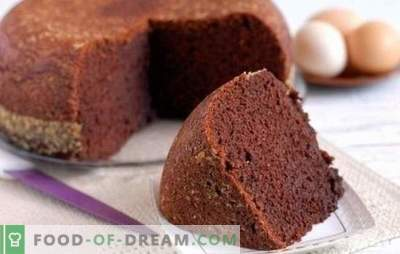 Cocoa sponge cake - chocolate fairy tale! Homemade recipes for cocoa biscuits: classic, boiled water, kefir, sour cream with cherry