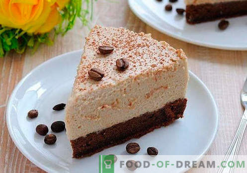 Cake Mousse - the best recipes. How to properly and tasty cook cake mousse.