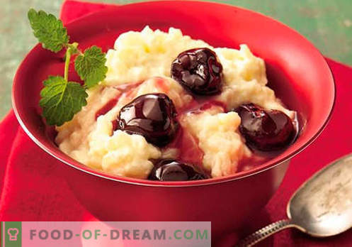 Rice pudding - the best recipes. How to properly and tasty cook rice pudding.