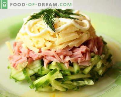 Salatele de șuncă sunt cele mai bune rețete. Cum să gătești corect și gustos o salată cu șuncă.