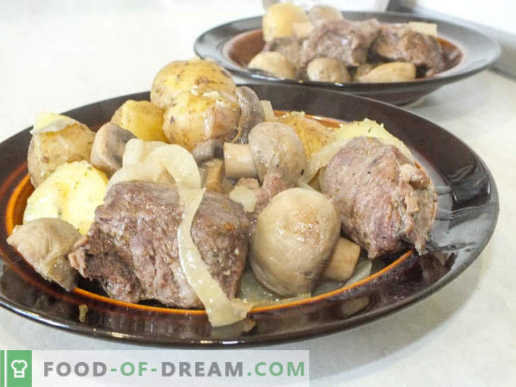 Juicy beef with mushrooms baked in foil - a recipe for a delicious dish with a secret