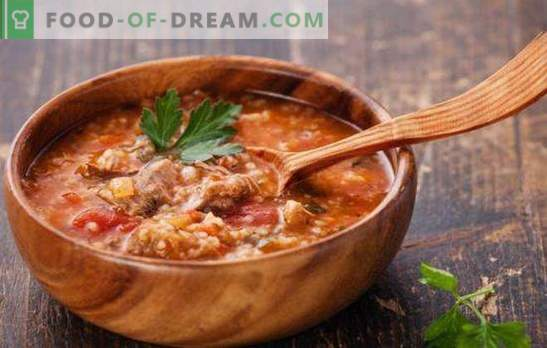 Georgian soup is a deliciously spicy spicy first course. The best recipes of Georgian soups: kharcho, shechamandy, hashi, bozartmu