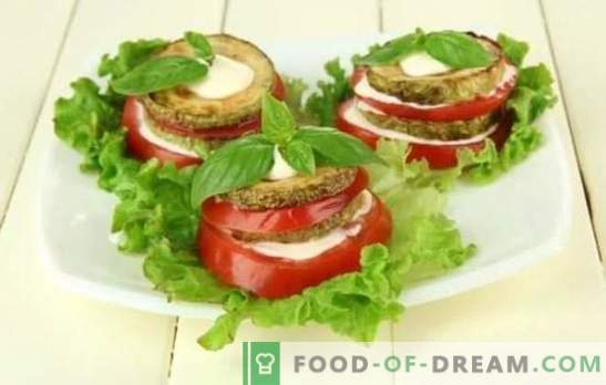 Zucchini Snack with Tomatoes is an original dish made from simple products! Proven snacks of zucchini with tomatoes: fry, simmer and bake