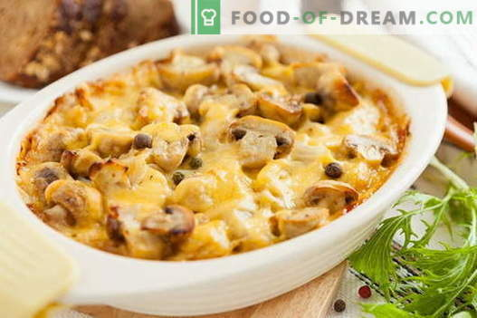 Casserole with mushrooms - the best recipes. How to properly and tasty cook a casserole with mushrooms.