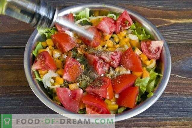Salad with lentils and cheese