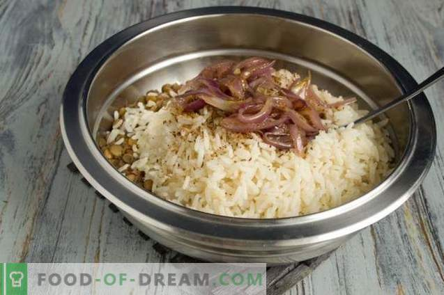 Mudjadara - rice with lentils