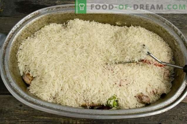 Homemade lamb pilaf