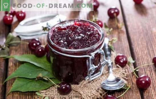 Cherry jam with lemon is a sweet and sour delicacy for the winter. The best recipes for cherry jam with lemon, nuts, vanilla, mint