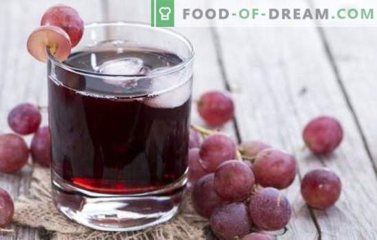 Grape juice for the winter at home: how to do it correctly? The best recipes of grape juice for the winter from the pan or juicer