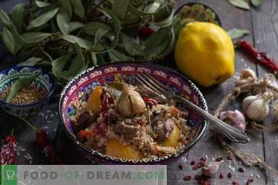 Fragrant pilaf with quince and beef