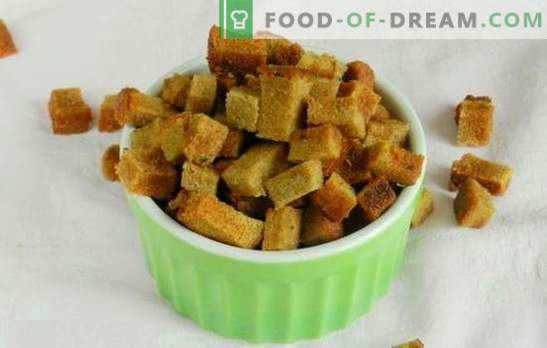 Crackers with garlic - a brilliant invention of thrifty culinary! Recipes unmatched appetizers and dishes of stale bread
