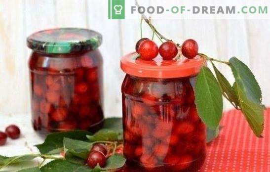 Cherry in its own juice for the winter - ruby ​​summer in the bank. How to prepare a cherry in its own juice for the winter
