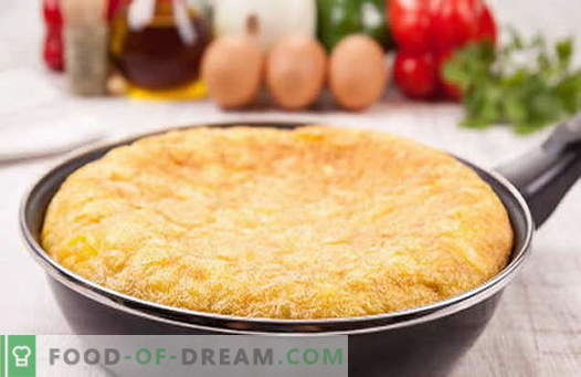 Omelet in a pan - proven recipes. How to properly and tasty cook an omelet in a pan.