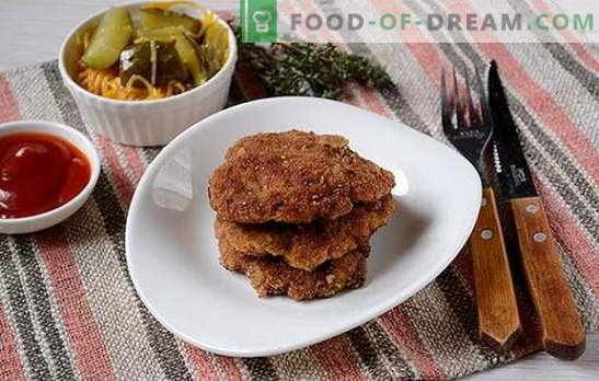 Mincemeat chops: tender, juicy, with a crispy crust. Author's step-by-step photo recipe for minced meat chops, fried in a pan in breadcrumbs