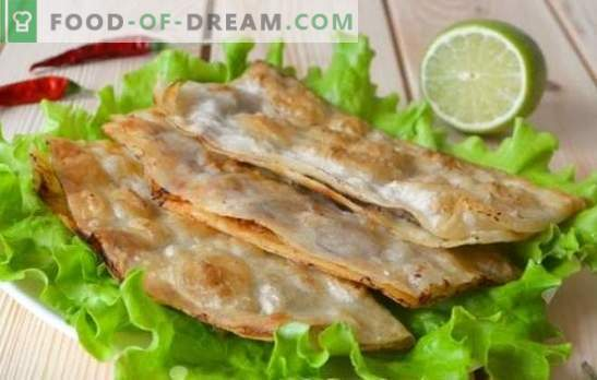 Lazy Pasties - a favorite dish in a few minutes. Recipes for lazy pasties with pita bread, waffle cake, batter
