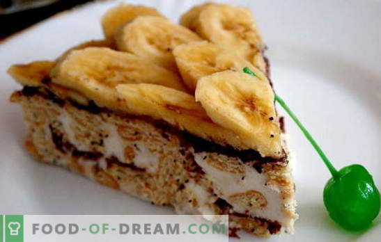 Gingerbread cake with banana and sour cream - and the oven does not need to be included! Gingerbread cake recipes with bananas and sour cream without baking