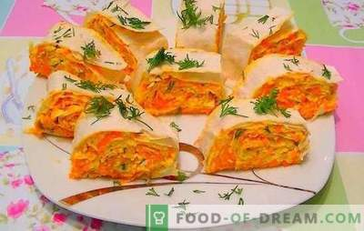 Carrots with melted cheese - orange mood! Recipes for quick and bright salads, carrot snacks with melted cheese