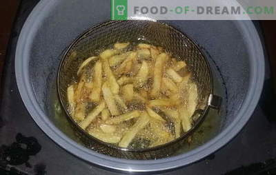 French fries in a slow cooker - a favorite fast food at home. Recipes for french fries in a slow cooker, as well as sauces for it