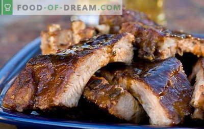 Costillas en el horno en papel de aluminio - ¡los que comen carne estarán encantados! Recetas de costillas al horno en papel de aluminio con adzhika, verduras, champiñones