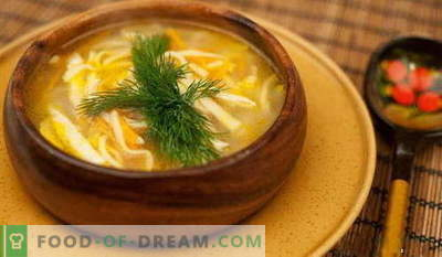 Noodle soup - the best recipes. How to properly and tasty cook noodle soup.