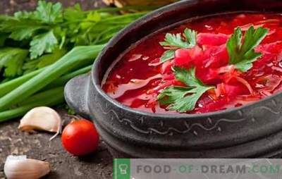 Three options for borscht with beef are in step-by-step recipes. Secrets of South Russian, Ukrainian and Cossack Cuisine: Borsch with Beef (step by step)