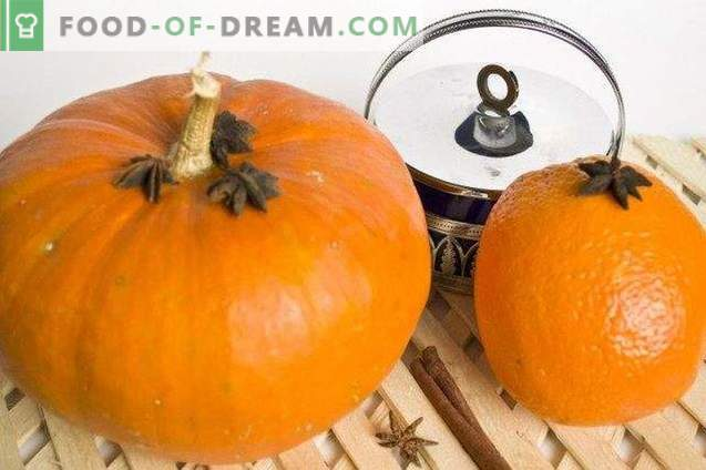 Pumpkin jam with oranges