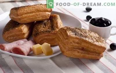 Puffid sinki ja juustuga - ei saa hea maitse! Parimad sink- ja juustupeedi retseptid: teod, bagelid, ümbrikud