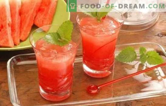 Watermelon cocktails - refreshing drinks for parties and relaxation. Recipes for non-alcoholic and alcoholic watermelon cocktails