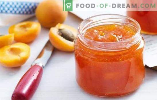 Apricot confiture - a delicate dessert with the taste of the sun. A selection of recipes for apricot confiture for tea, for the winter, for baking