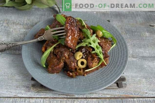 French beef with red wine and Borodino bread