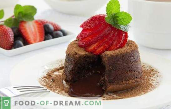 Chocolate mood: with dessert - it's easy! Chocolate dessert recipes for all occasions: cheesecake, log, biscuit, souffle
