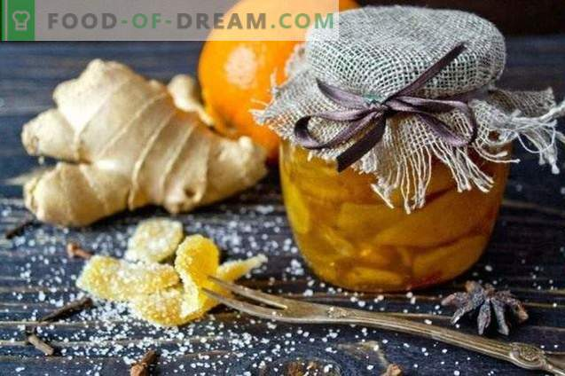 Candied ginger - candied ginger with orange