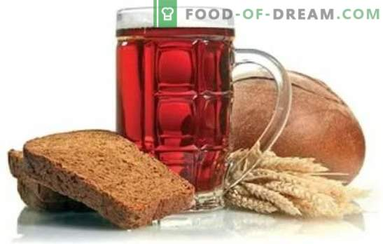 Sourdoughs for yeast-free kvass on malt, breadcrumbs, oats. Useful information on the manufacture of yeast-free kvass
